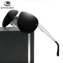 CIVICHIC Top Grade Man Al-Mg Polarized Sunglasses Classic Pilot Eyewear Driving Glasses Hipster HD Oculos De Sol Frog Gafas E187