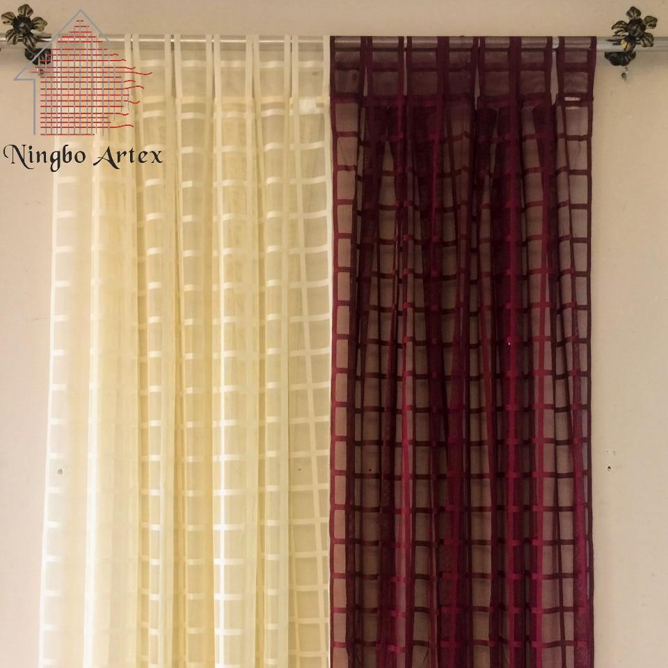 artex nuevo estilo americano panel de cortina escarpada voile cortinas cortinas de lino a cuadros saln cortinas de la coci
