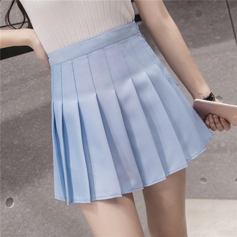 Popular Light Blue Pleated Skirt-Buy Cheap Light Blue Pleated ...