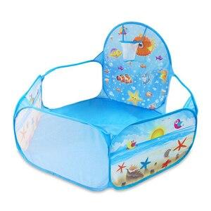 Image 2 - Nowe zabawki namiot seria ocean gra animowana piłka Pits przenośny basen składany dzieci sport na świeżym powietrzu edukacyjne zabawki z koszem
