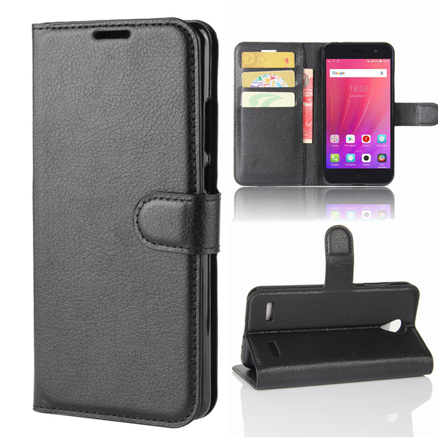 Wallet Cover Card Holder Phone Cases for ZTE A520 /ZTE Blade A520 Pu Leather Case Protective Shell