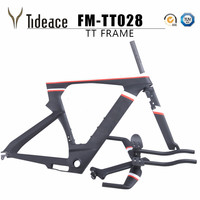 2019 NEW Di2 carbon time trial triathlon frame 700c light carbon TT bike frame carbon TT frameset with free brake clipers