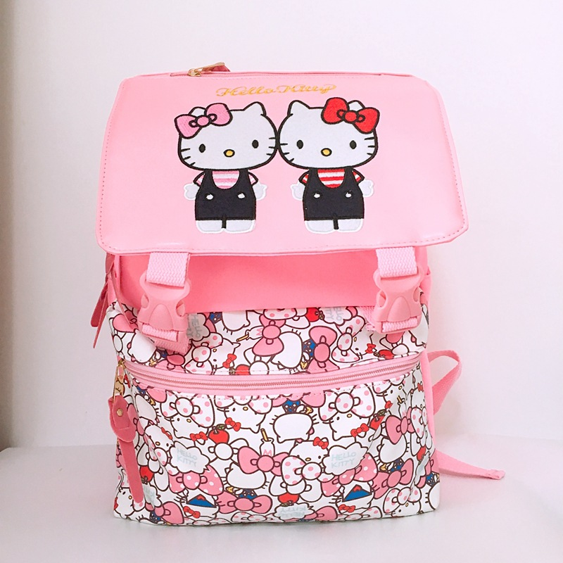 KT cat pink girls 15 backpack travel tote laptop school bags anime knapsack packsack rucksack unisex bag newKT cat pink girls 15 backpack travel tote laptop school bags anime knapsack packsack rucksack unisex bag new
