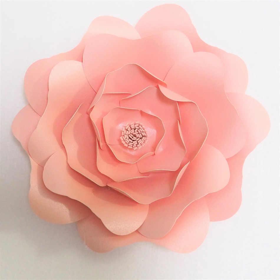 Tutoriais Em vídeo Gigante DIY Flores De Papel Flores Artificiales Fleur Artificielle Cenários de Casamento & Eventos Decoração Do Berçário Do Bebê