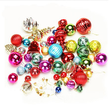 24pcs/ lot Christmas Tree Decor Ball Bauble Hanging Xmas Party Ornament decorations for