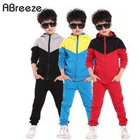 Classic Children Tracksuit Sport Set Casual Hooded Clothing Sets Kids Boys Autumn Spring Clothes Suit Costume