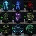 HUI YUAN Sun Wukong RGB Cambiable Lámpara de estado de Ánimo de Luz Nocturna en 3D LED decorativa lámpara de mesa de luz dc 5 v usb conseguir un free control remoto