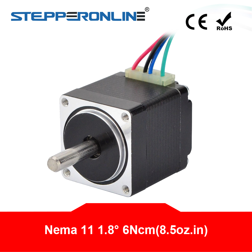 Mini Nema 11 Stepper Motor 4-lead 0.67A 6Ncm/8.5oz-in 28x28x31mm for DIY 3D Printer CNC XYZMini Nema 11 Stepper Motor 4-lead 0.67A 6Ncm/8.5oz-in 28x28x31mm for DIY 3D Printer CNC XYZ