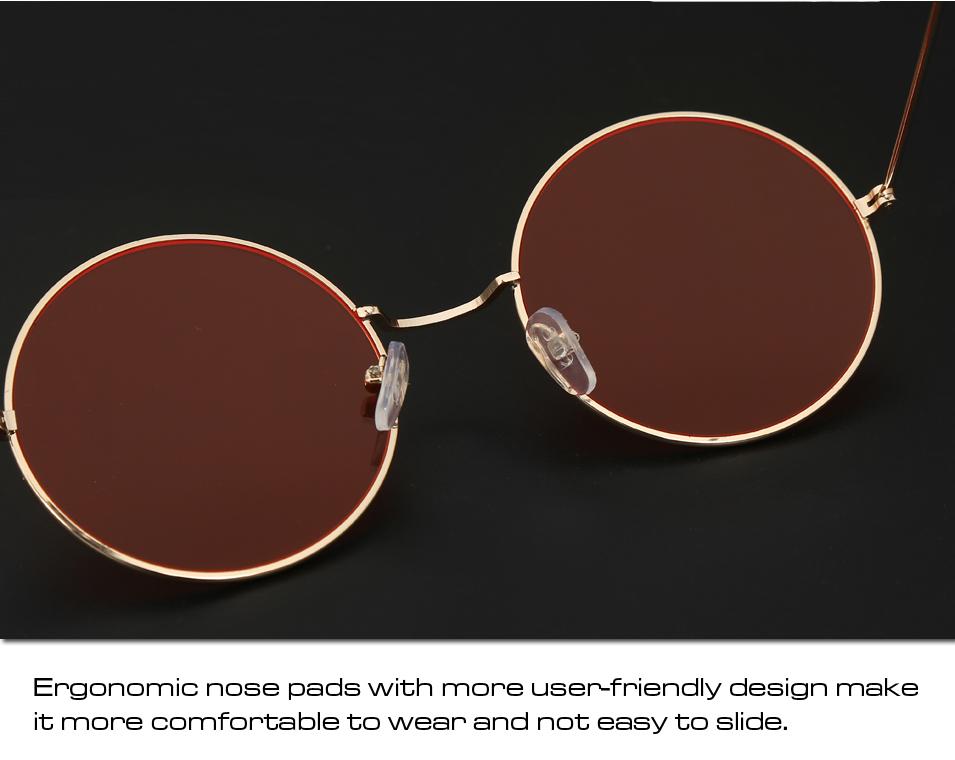 Women's Round Mirror Sunglasses 20