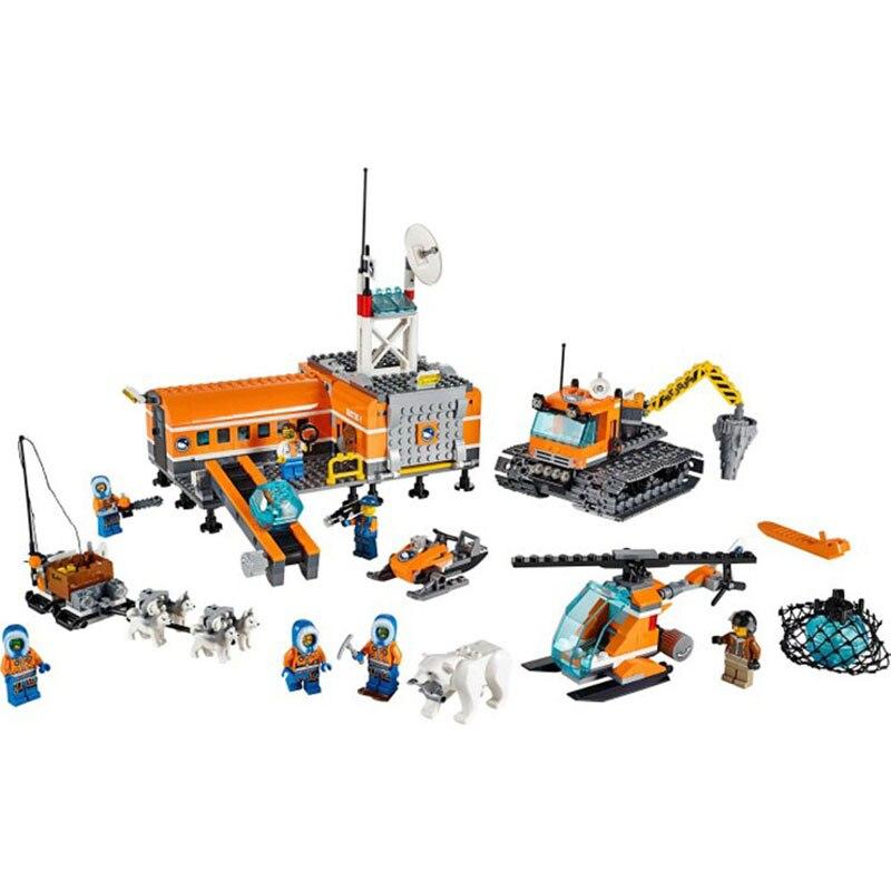 все цены на Pogo Gifts BL10442 Arctic Snowmobile Camp Snowmobile Plane Urban Police City Building Blocks Bricks Toys Compatible Legoe онлайн