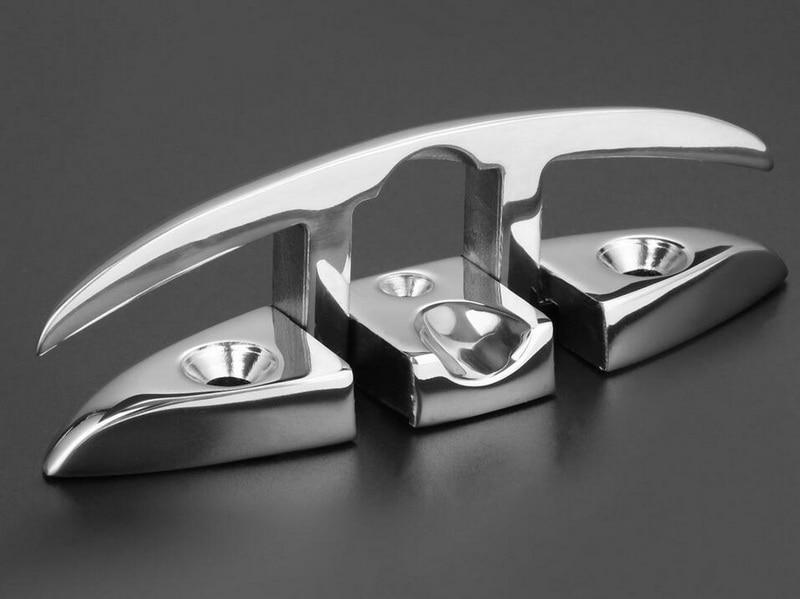 6/'/' Folding Marine Stainless Steel Stud Mount Flip Up Cleat Boat Base Hardware