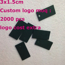 DIY Black Tag Swing Label Paper Hand Made Custom logo Cost Extra Swing Label 1LOT =500 pcs &500hemp strings