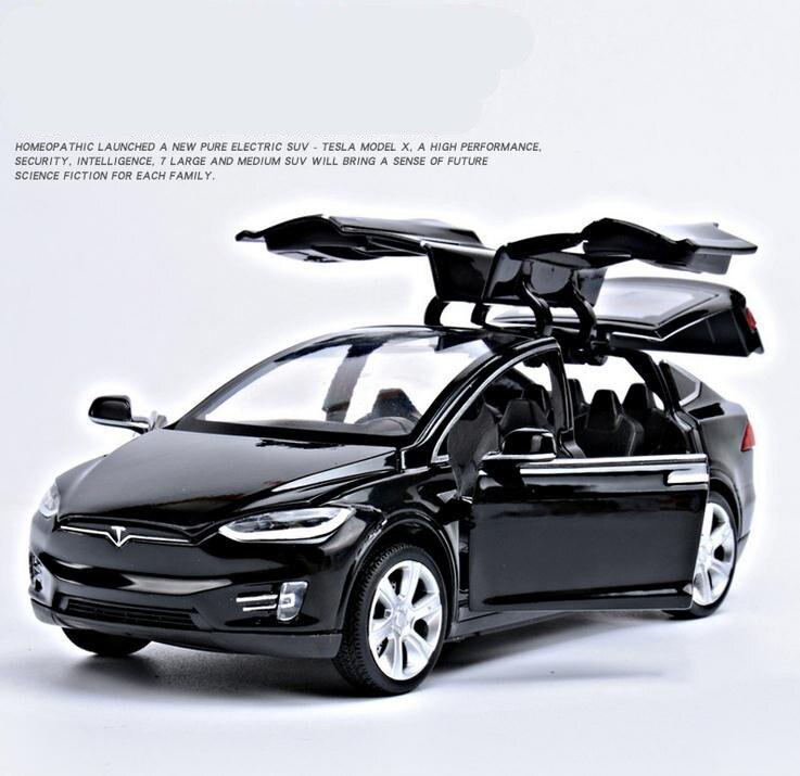 1:32 aleación tire volver juguetes de coches, alta imitación Tesla modelo X90, 4 Puerta Abierta música y Flash y vehículos de juguete, al por mayor