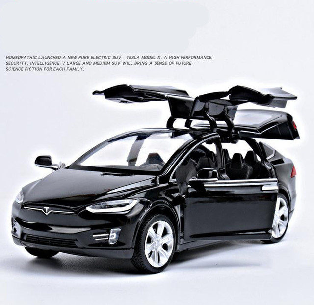 132 alloy pull back car toys high imitation Tesla MODEL X90 4 & 1:32 alloy pull back car toys high imitation Tesla MODEL X90 4 ...