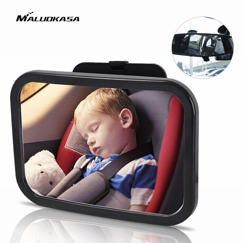 MALUOKASA Auto Zurück Sitz Baby Sicherheit Spiegel Einstellbar Baby Rück Kleinkinder Spiegel Hinten Ward Ansicht Auto Baby Innen Spiegel