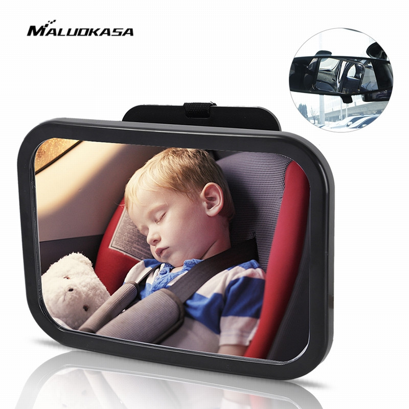 MALUOKASA Car Back Seat Baby Safety Mirror Adjustable Baby Rearview Infants Spiegel Rear Ward View Auto