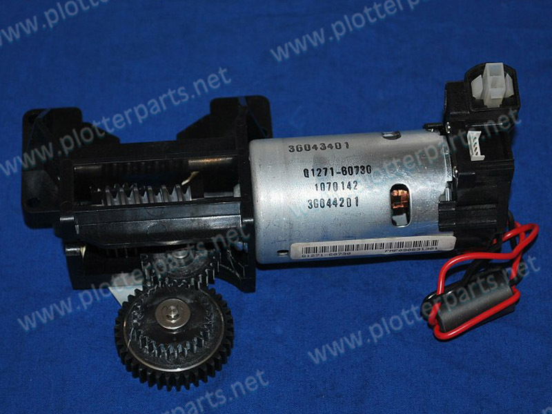 Q1271-60613 Media feed motor HP DesignJet 4500 4500PS 4500MFP plotter part Original Used c4704 40059 pinch arm media lever for hp designjet 2000cp 2500cp 2800cp 3000cp 3500cp 3800cp plotter parts
