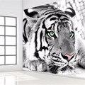 Foto wallpaper tigre blanco y negro de animales murales entrada dormitorio sala de estar sofá tv fondo de la pared mural del papel de empapelar
