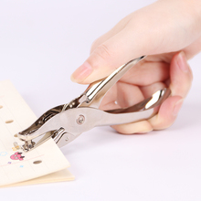 1pcs Metal Single Hole Puncher Hand Paper Punch Scrapbooking Punches One Can Make 8 Pages All Materials
