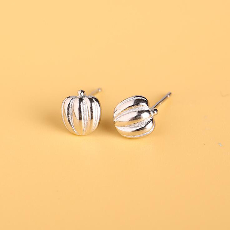New Design Pumpkin 925 Silver Women's Earrings Fashion Minimalist Earring Jewelry Gifts for Girls Brincos 2019 Cute Stud Earring
