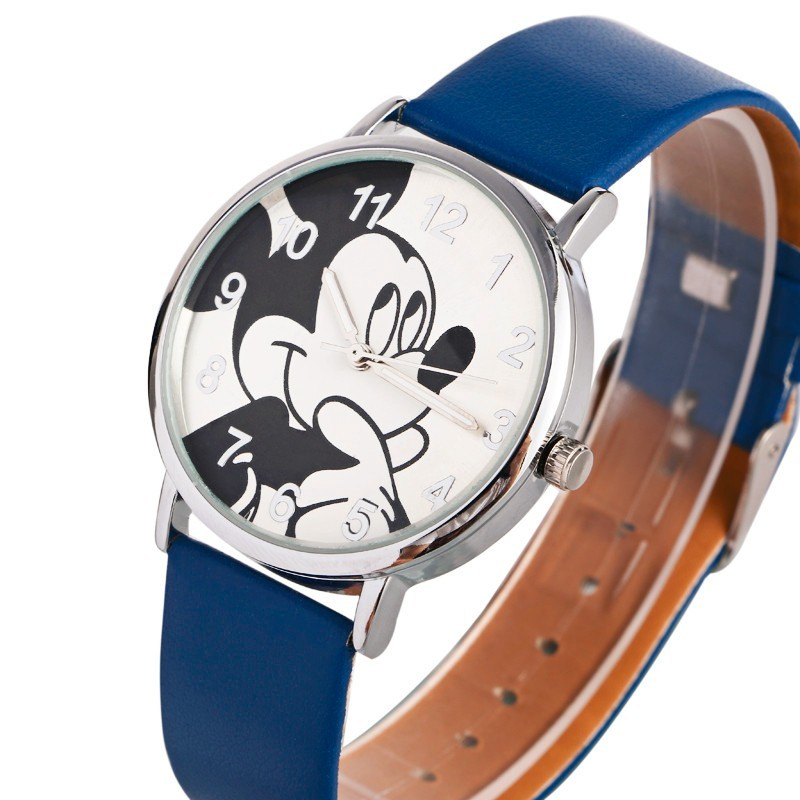 Children's Watches 2017 Fashion Minnie Women Watch Boy Girl Cartoon Watches Unisex Quartz Watch Student Famale Imitation Pu Leather Holiday Gifts
