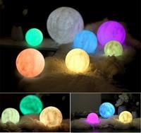3D Light Print Jupiter Lamp Earth Lamp Colorful Moon Lamp Touch Usb Led Night Light Home Decor Creative Gift