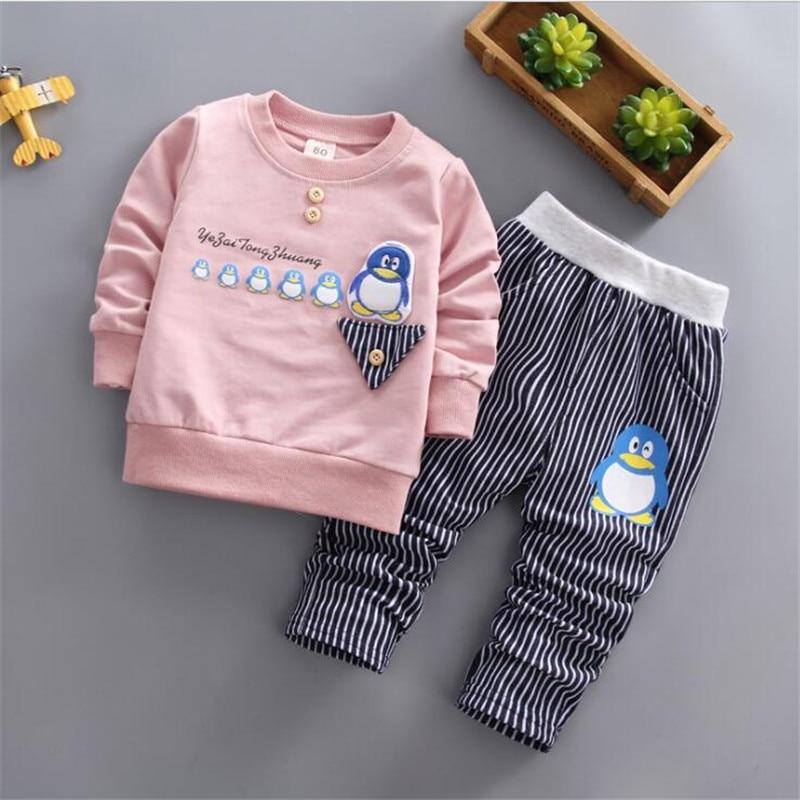 Girls' Clothing Trousers Cotton Clothes Set Baby Toddler Spring Girls Sport Suit Set Bibicola Baby Girls Autumn Clothing Set Kids T-shirt