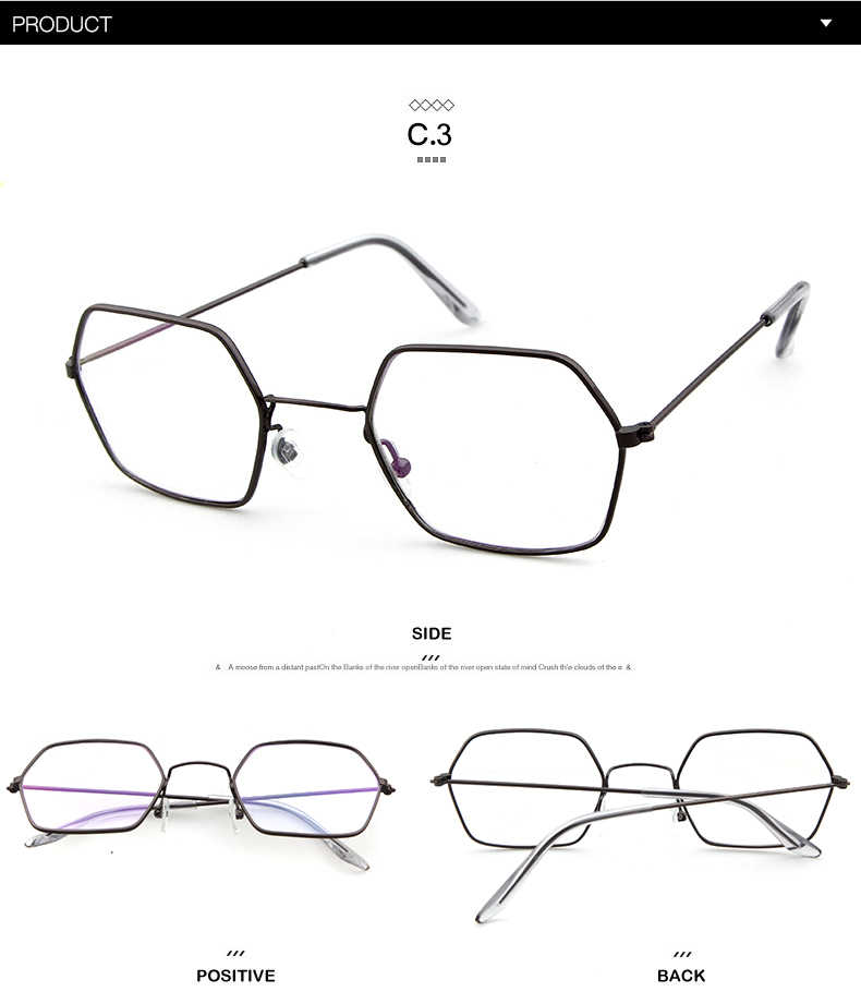 2843eac52b ... LongKeeper Gold Clear Glasses Women Hexagon Sexy Clear Glasses Frame Eyewear  Sunglasses Ladies Polygon Eyeglasses Frame ...