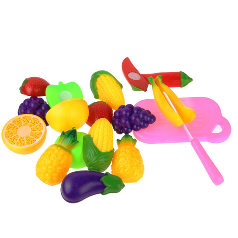 Hot 11PC Cutting Fruit Vegetable Pretend Play Children Kid Environment friendly Educational Toy Gift 0 4Y