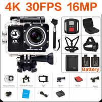 Ultra hd 4 k câmera de ação wifi câmeras 16mp 170 go cam 4 k deportiva 2 polegada f60 câmera esporte impermeável pro 1080 p 60fps cam