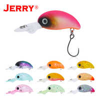 Jerry 2.7cm stream&lake trout lures floating deep diving crank bait wobbler hard bait plug spinning fishing lures glow UV colors