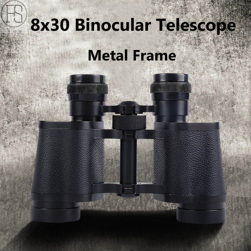 8x30 Binocular Telescope Outdoor Sports Travel Hunting Prism Metal Frame Climbing Camping Tactical Military Grade Binoculars 8x30 binoculars outdoor telescope magnification 8x focusing vison for hunting cl3 0046