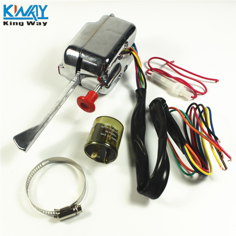 Chrome 12V Universal Rat Hot Rod Turn Signal Switch For FORD GM With Flasher