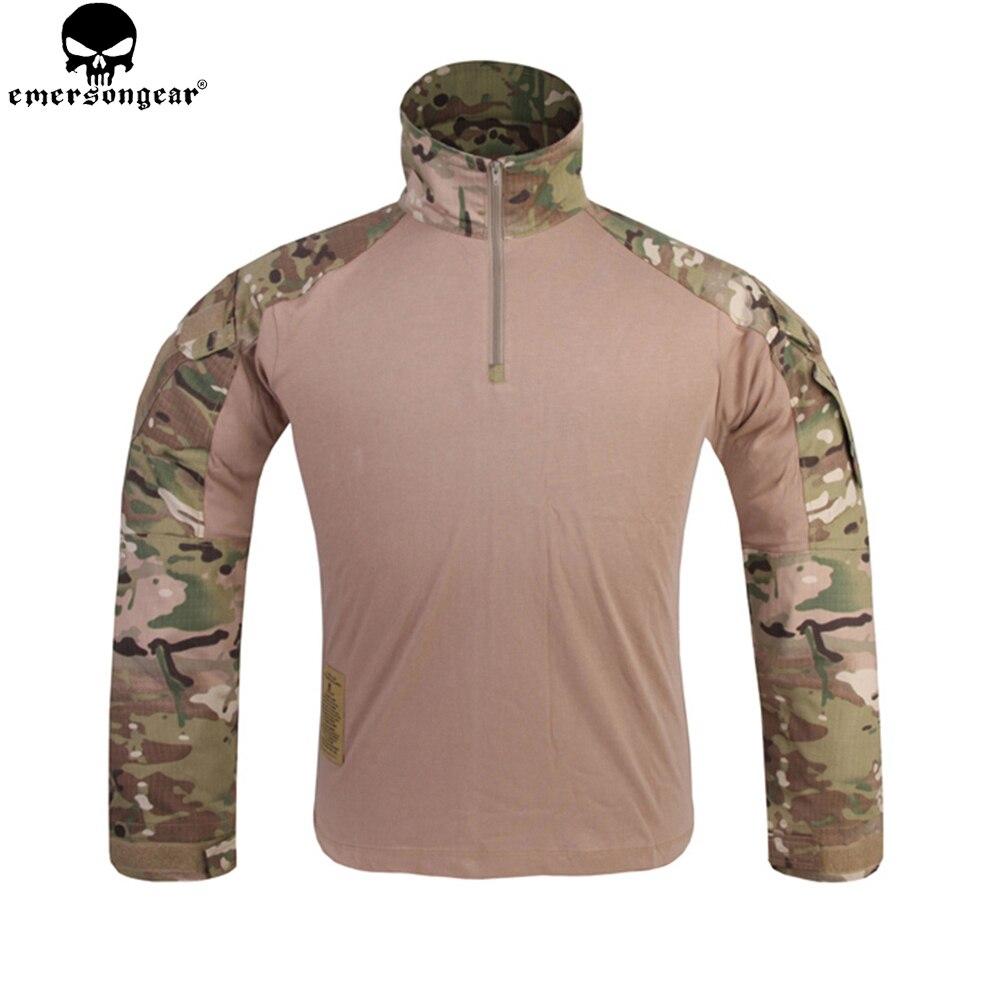EMERSONGEAR Мультикам боевая рубашка Охота Одежда G3 BDU Airsoft Тактический ЭМЕРСОН военный Wargame Мультикам черная рубашка