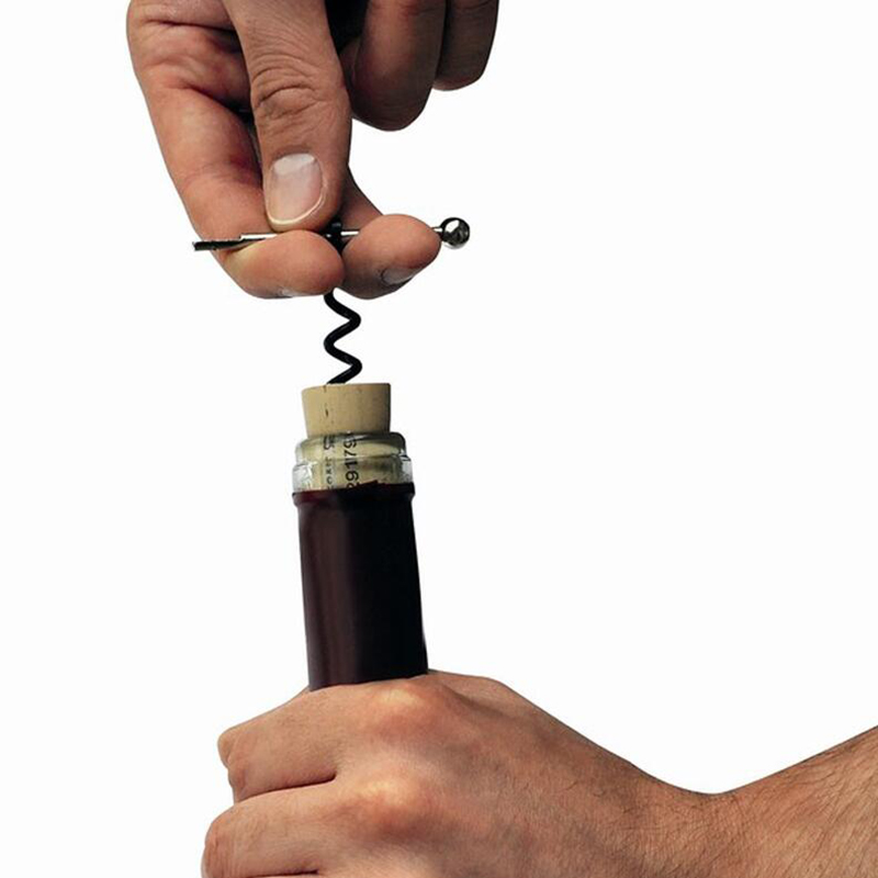 Red Wine EDC Twist Stick Corkscrew Stainless Steel Cork Bottle Puller Opener Keyring Camping Professional Champagne Stopper