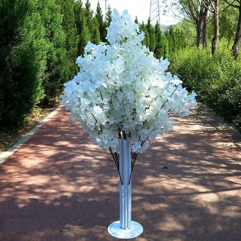 Nueva llegada flores de cerezo árbol camino lleva boda camino pasillo columna centros de compras abierto puerta decoración Stands - 2