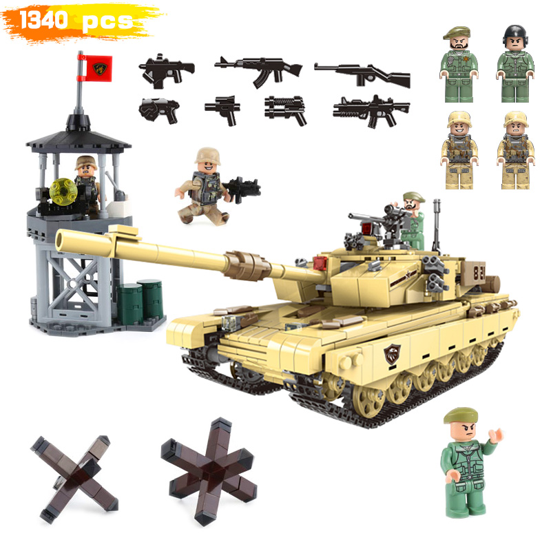 Building Blocks World War 2 Military Assemble Tank Lookout Tower Roadblock Moc Figures Weapons Gift For Boy Toy With  LegoinglysBuilding Blocks World War 2 Military Assemble Tank Lookout Tower Roadblock Moc Figures Weapons Gift For Boy Toy With  Legoinglys