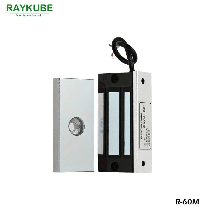RAYKUBE Mini 60 KG Serrure Magnétique 120lbs Serrure Électrique Pour Cabinet Porte Simple Contrôle D'accès Serrure R-60M