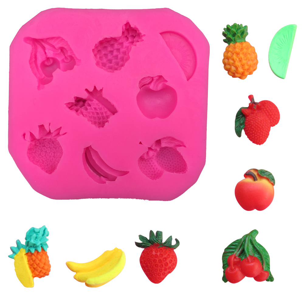 3D Reverse sugar molding fruit shape silicone mould for polymer clay molds confectionery accessories cake decoration tools F0265
