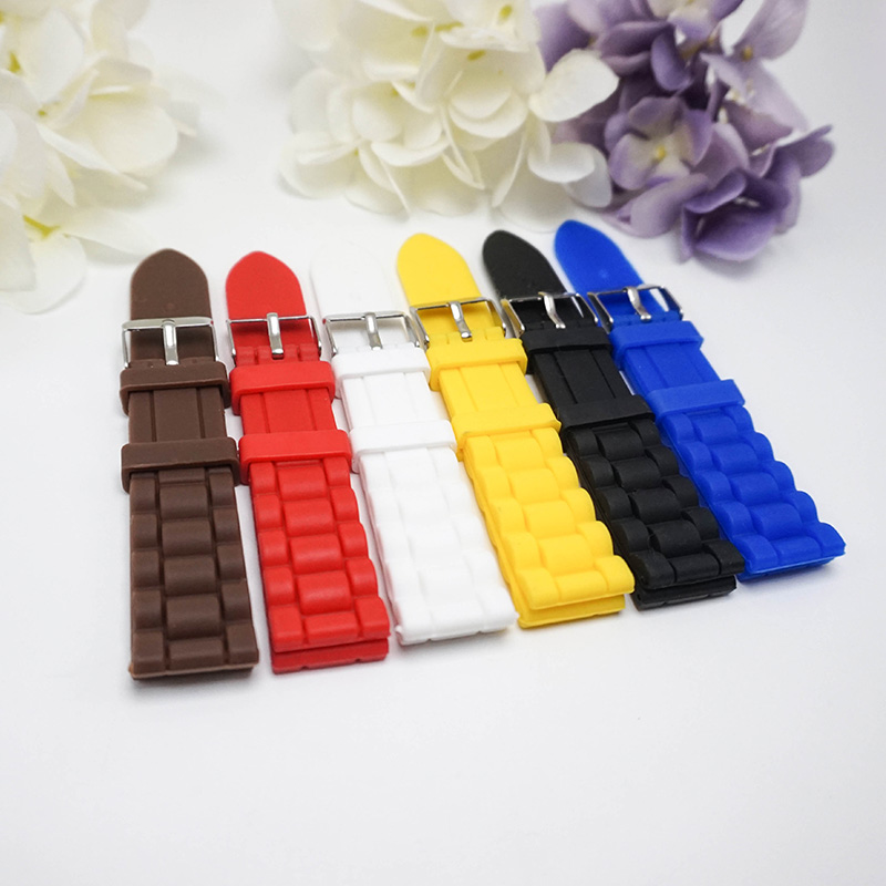 2018 watches High quality rubber Silicone strap 20MM Watchband for women watch clock watchbands men's watch strap 20mm цена