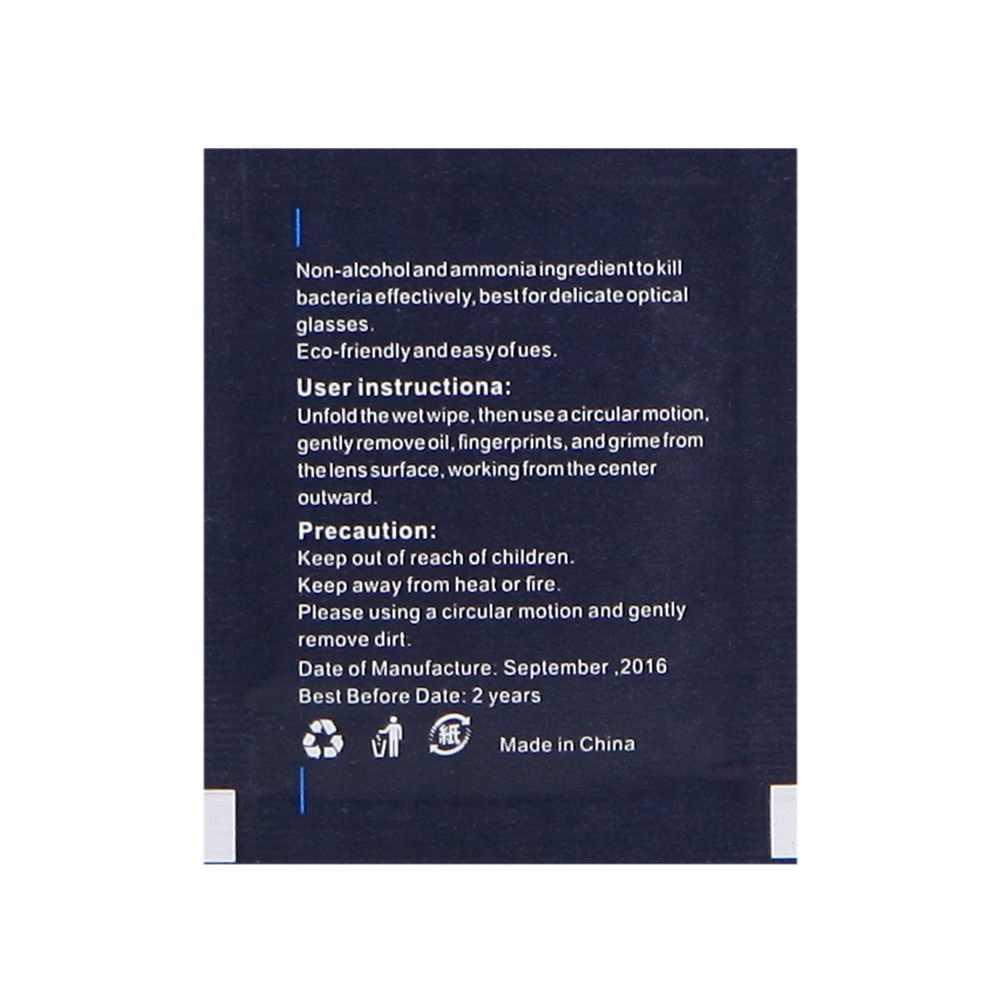 Selens 10 Folhas/Pacote Tecido Molhado Toalhetes Pré-umedecido para Filtro Camera Lens Óculos de Limpeza Do Monitor LCD Tablet profissional
