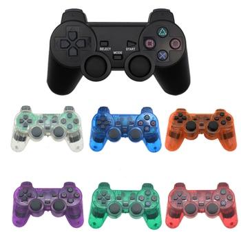 Gamepad Nirkabel untuk Sony PS2 Controller untuk PlayStation 2 Konsol Ganda Joystick Getaran Shock Joypad Nirkabel Controle