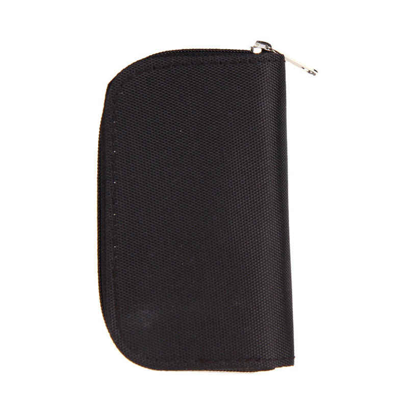 Black 22  HC MMC CF   Memory Card Storage Carrying Zipper Pouch Case Protector Holder Wallet