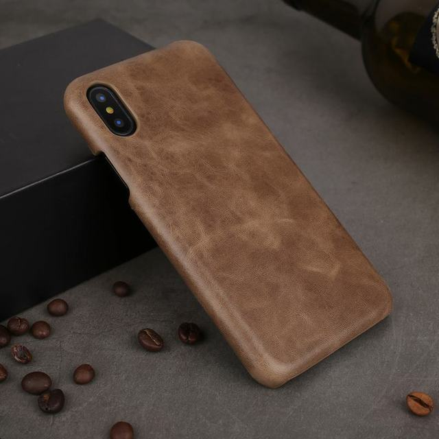 official photos df45f 7beca US $12.5 |Vintage Genuine Leather Case For iPhone X Case TPU Silicone Phone  Cases For Capa iPhone X Back Cover Coque-in Fitted Cases from Cellphones &  ...