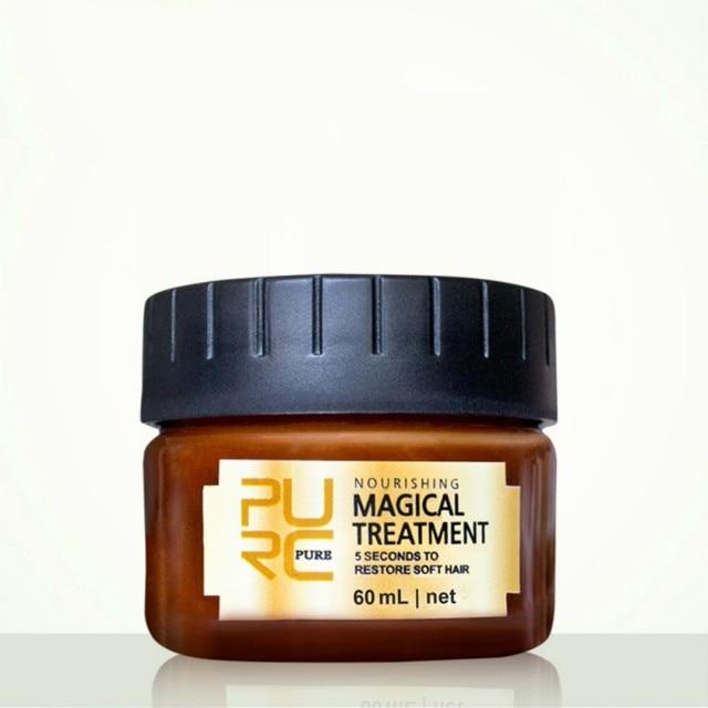 60 ml rápido restaura el daño pelo suave para todos los tipos de cabello de queratina y el tratamiento del cuero cabelludo pelo suave Venta caliente