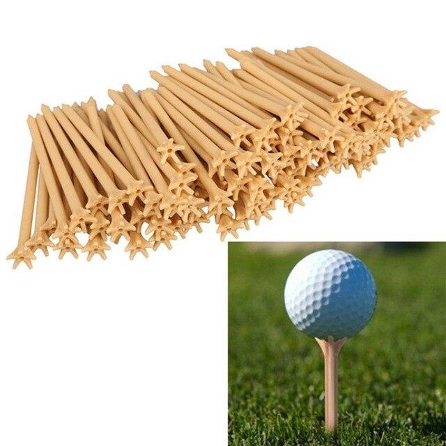 מכירה לוהטת 100 יח'\סט פלסטיק 70mm חבילה מקצועי חסר חיכוך גולף טי חיטה גולף טיז
