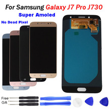 купить J7 pro LCD For Samsung Galaxy J7 Pro Display with Touch Screen Digitizer Assembly 2017 J730 J730F LCD replacement with free tool по цене 2296.07 рублей