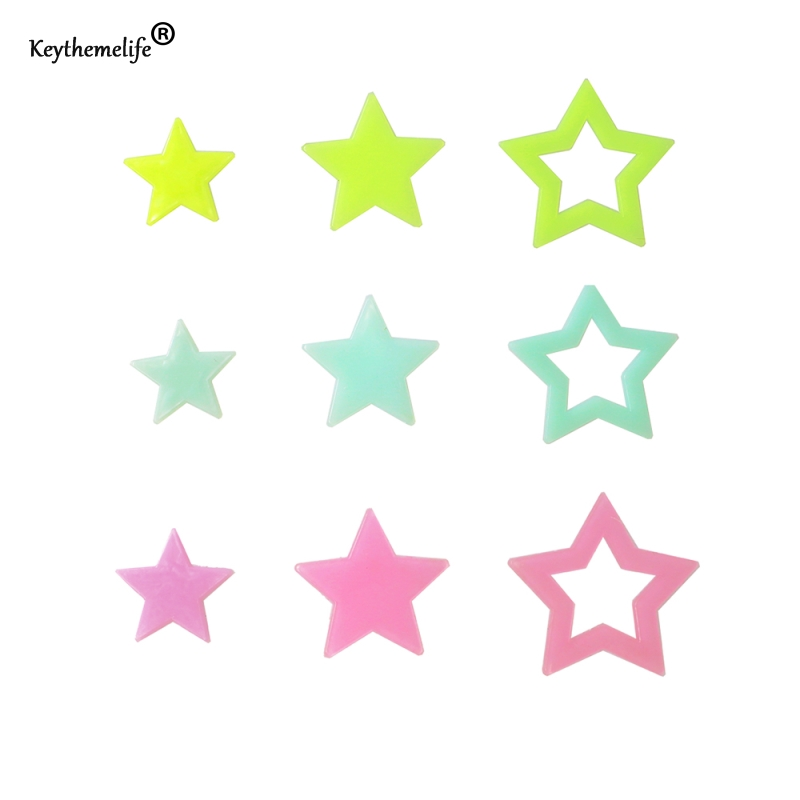 1pack 30mm 38mm 46mm Glow Wall Stickers 3 size option Decal Baby Kids Bedroom Home Decor Luminous Fluorescent DA