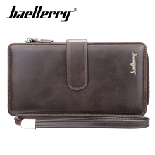Baellery Fashion Men Long Wallet PU Leather Purse Handbags For Male Luxury Brand High Quality Zipper men clutches Wholesale