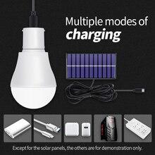15W Solar Lamp LED Power Light 250LM Energy USB 5V~8V Portable Bulb For Outdoor Travel Fishing Camping Tent